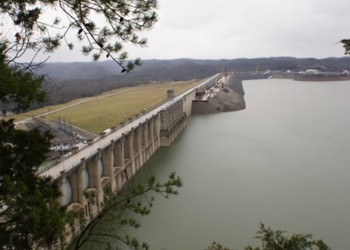 Wolf Creek Dam at Cumberland Lake